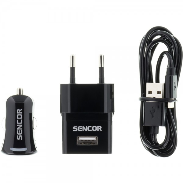 USB KIT 1 M/WALL /CAR, SENCOR SCO 515-000BK