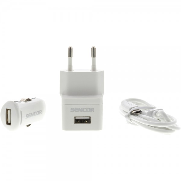 USB KIT 1 m/WALL /CAR, SENCOR SCO 515-000WH