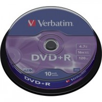 DVD+R 4,7GB 16x 10SP VERBATIM