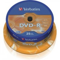 DVD-R - VERBATIM 4,7GB 16x 25SP