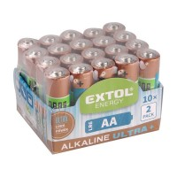 Baterie alkalické EXTOL ENERGY ULTRA 20ks 1 5V AA (LR6) EXTOL LIGHT