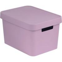 Úložný box INFINITY 17l s víkem růžový CURVER 229244