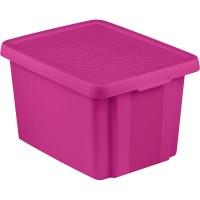 Úložný box ESSENTIALS 26l s víkem fialový CURVER 225450