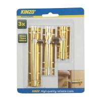 Zarážky na dveře - 3 druhy, 3 ks KINZO 8711252797557