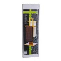 Bambusový držák na osušky s poličkou No brand 48427