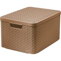 Úložný box STYLE L mocha s víkem CURVER 211540
