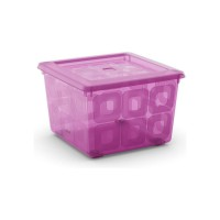 Square Box s kolečky fialový, 28l KIS 008499LVT