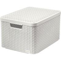 Úložný box STYLE L béžový s víkem CURVER 205862