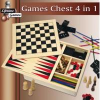 Dřevěné deskové hry 4v1 LIFETIME GAMES 8711252854427