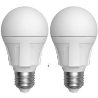 LED žárovka hruška E27 8W 860lm 4200K, 2ks SKYLIGHTING A60-2708D-SAD
