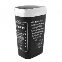 Koš na odpad Dual Swing Bin Style L, Coffee menu, 50l KIS 80771002285
