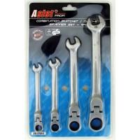Sada kombinovaných (očko-ráčnových) klíčů - 4 ks ASIST 20-2424