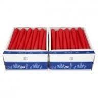 Svíčka stolní 22x240mm, červená 100 ks 1416-02