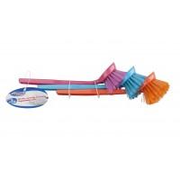 Plastový kartáč na mytí v sadě 3ks LIFETIME CLEAN 53616