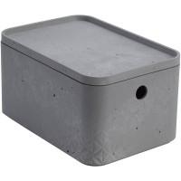 Úložný box beton S s víkem CURVER 243399