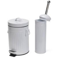 Odpadkový koš 3l bílý a držák na WC kartáč No brand 8711252329833