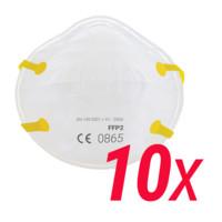 Originální respirátor FFP2 - 10kusů, 6vrstev = nejvyšší ochrana RESPIRAX ANTI-COVID-02_10 , vyšší kvalita než respirátory N95, KN95