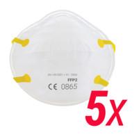 Originální respirátor FFP2 - 5kusů, 6vrstev = nejvyšší ochrana RESPIRAX ANTI-COVID-02_05 , vyšší kvalita než respirátory N95, KN95